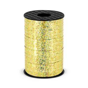Ολογραφική πλαστική κορδέλα χρυσή