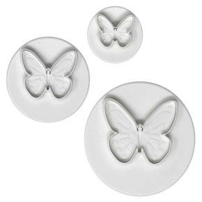 Στρογγυλεμένη πεταλούδα – Cutter με έμβολο – 3τμχ
