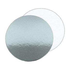 Δίσκος στρογγυλός ασημί λεπτός - 1.5mm