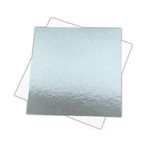 Δίσκος τετράγωνος ασημί λεπτός - 1.5mm