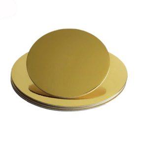 Δίσκος τούρτας στρογγυλός χρυσός